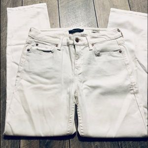 Level 99 White Lily's crop straight leg jeans 27